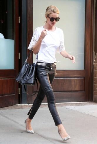 top rosie huntington-whiteley pants pumps