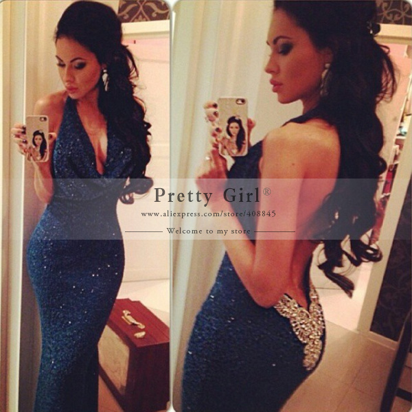 Aliexpress.com : buy amazing royal blue shining sequined long mermaid evening dresses one shoulder backless sexy slit formal prom party dress cheap from reliable dress up time prom dresses suppliers on pretty girl trade co., ltd