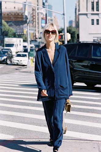 vanessa jackman blogger blouse pants shirt pajamas