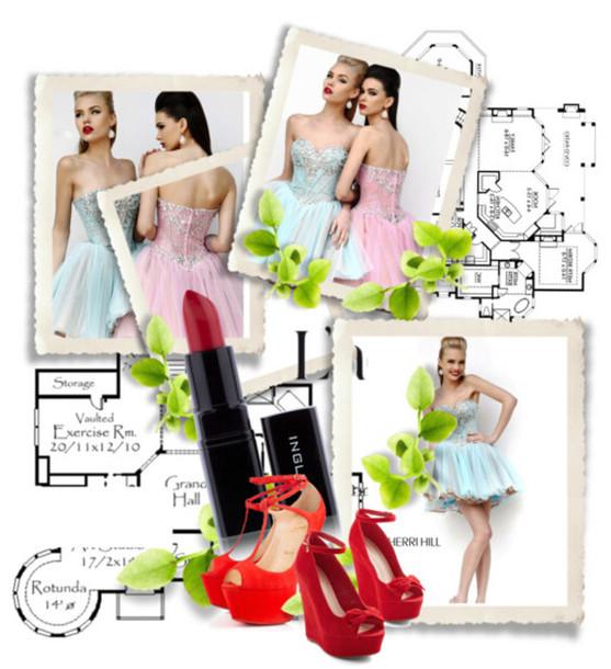 dress 2014 sherri hill 21156 aqua/nude/silver prom dresses