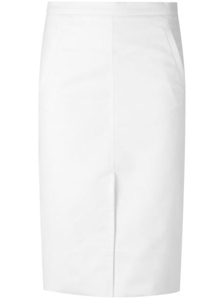 Andrea Marques skirt midi skirt women midi spandex white cotton