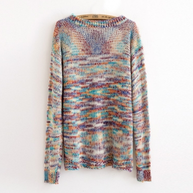 Latest Irregular Shape Colorful Sweater