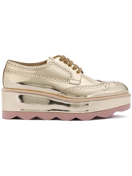 Prada women leather grey metallic shoes