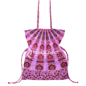 bag,mandala handbag,bucket bag,shoulder bag,handbag,mandala,purple