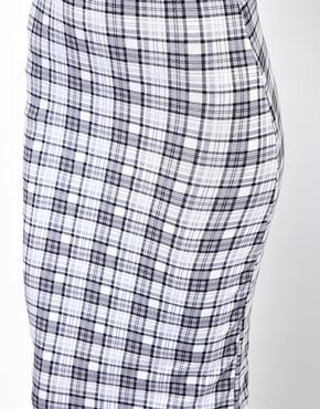 Club L | Club L Check Print Pencil Skirt at ASOS