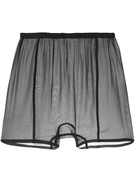 Zambesi shorts sheer women black silk