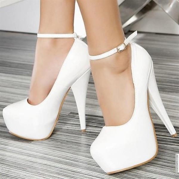 Coppy Leather Platform High Heel Prom Shoes