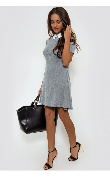 f1ef9a37f7a9 Alena Grey Skater Dress - from The Fashion Bible UK