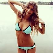 swimwear,bikini,bikini bottoms,bikini top,turquoise,bathing suit top