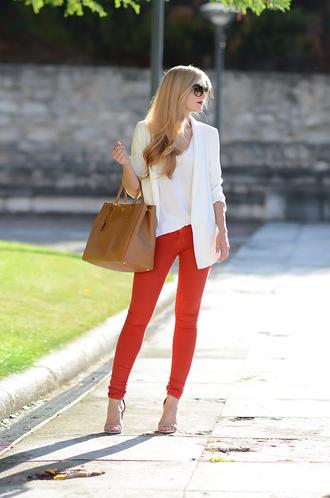 oh my vogue blogger jacket t-shirt jeans shoes bag sunglasses