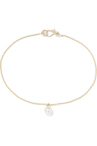 pearl anklet gold jewels