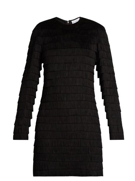 Raey dress fringed dress long black