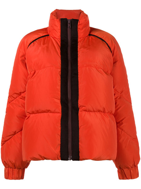 Ganni coat women wool red