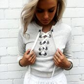 top,grey,grey top,grey crop top,crop tops,lace up crop top,lace up,lace up top,criss cross,long sleeves,long sleeve grey top,cropped sweater,grey croppped sweater,grey cropped pullover,grey pullover,pullover,sweatshirt,grey sweater,gray sweatshirt,grey sweatpants,sexy,preppy,tumblr,tumblr top,tumblr preppy,tumblr sweater,crop,cropped,sexy top,fashion is a playground,fashion toast,fashion vibe,fashionista preppy,fashionista,fashion top,sweater,casual top,casual sweatshirt,urban,streewear,streetstyle,holidays,summer,beach,beautiful,moraki,blouse,28719,t-shirt,criss cross lace up top,nike grey sweatshirt
