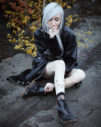 kimi peri blackrush blogger jacket cardigan tights socks shoes jewels
