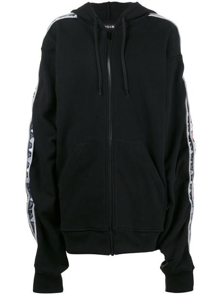 Y / Project hoodie zip women cotton black sweater