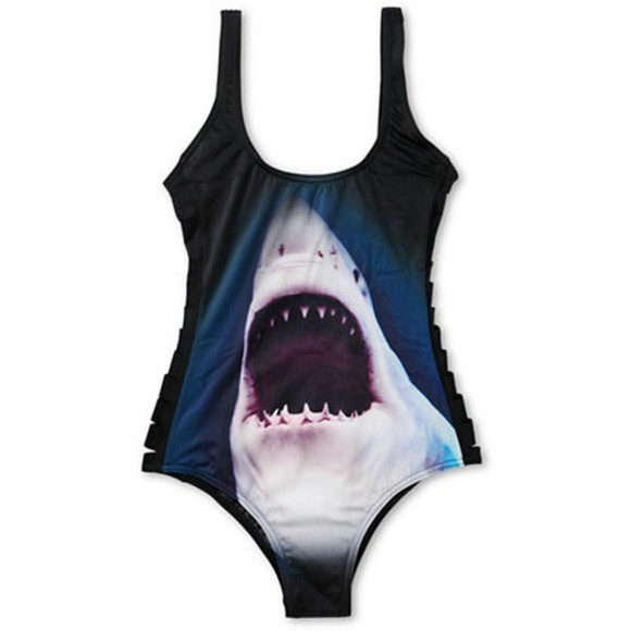 billabong swimwear shark one-piece swimsuit muller