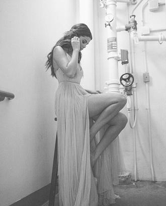 dress selena gomez long dress beautiful