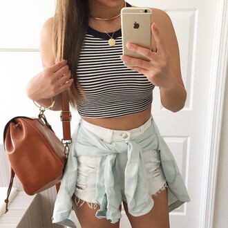 cardigan tumblr love pretty style shorts white tumblr outfit fashion cut off shorts high waisted shorts bag shirt