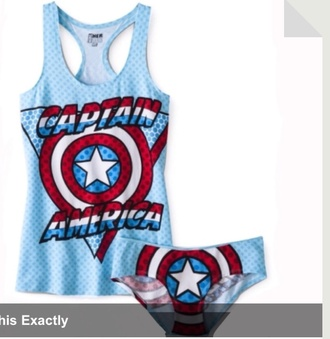 top captain america blue shirt underwear tank top grunge marvel marvel superheroes the avengers