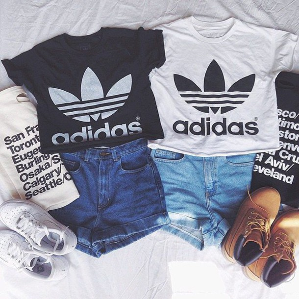 Shirt adidas timberlands crop tops crop shirt crop ...