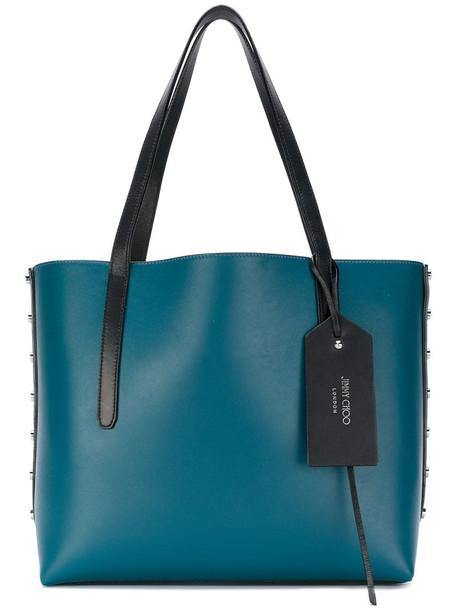 Jimmy Choo women leather blue bag