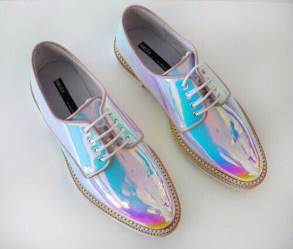 shoes shiny shoes style trendy holographic