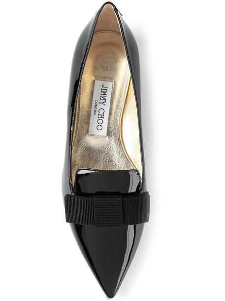 Jimmy Choo women leather black shoes