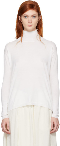 turtleneck white sweater