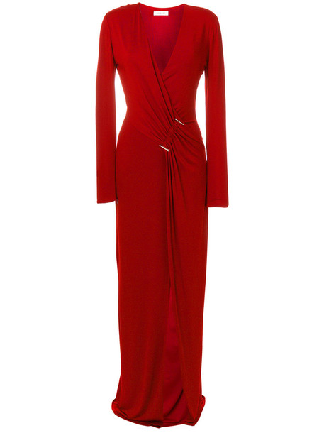 dress wrap dress women spandex red