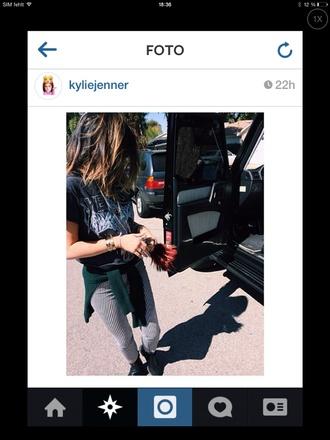shirt black kylie jenner kardashians t-shirt band pants yeezus