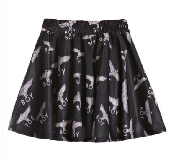 skirt black white boy london boy london eagle cute rihanna