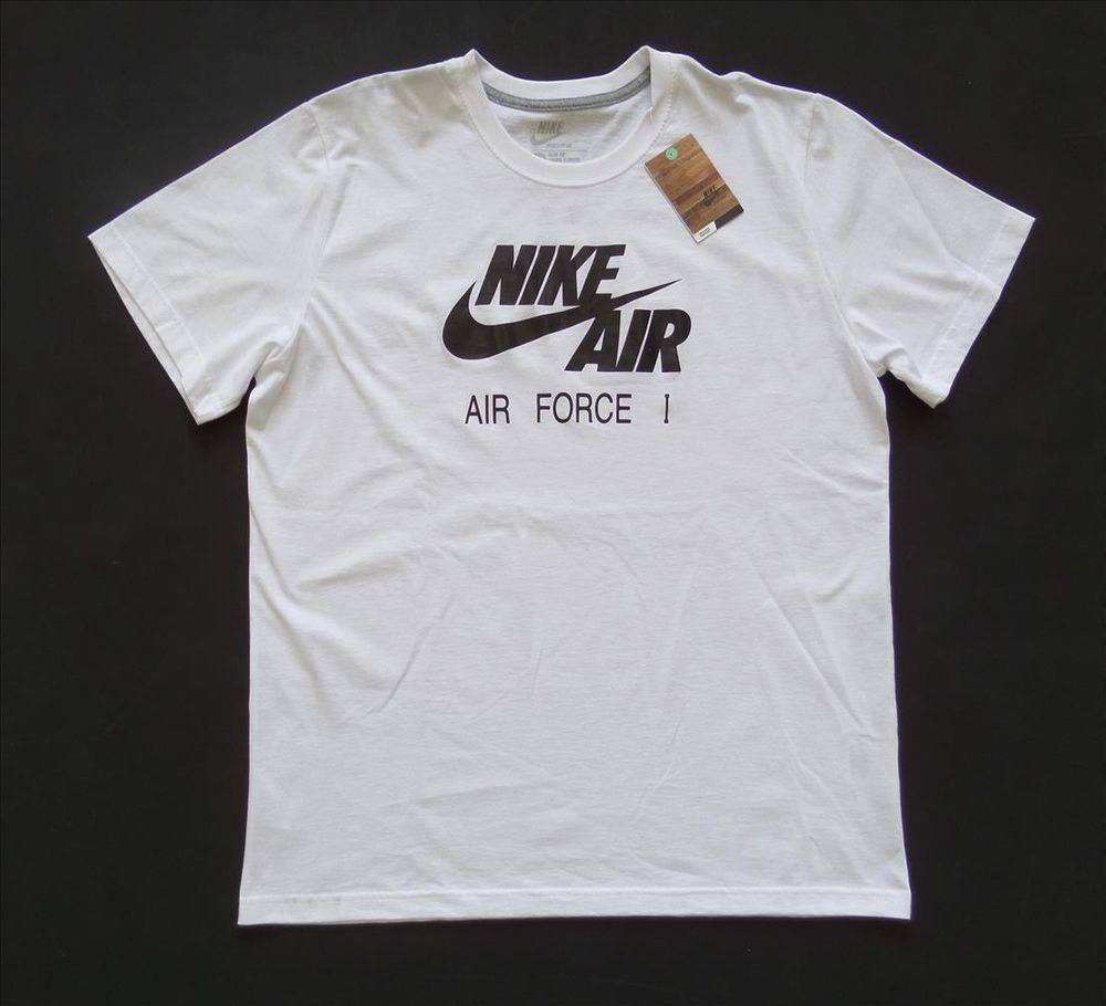 T shirt white ebay - New Nike Sportswear White Slim Fit W Nike Air Air Force 1 Logo T Shirt Sz 2xl Ebay