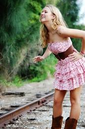 dress,layer,pink,ruffle,summer