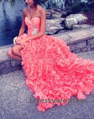 dress prom prom dress party evening dress homecoming dress sexy prom wedding gown wedding dress coral spring coral dress