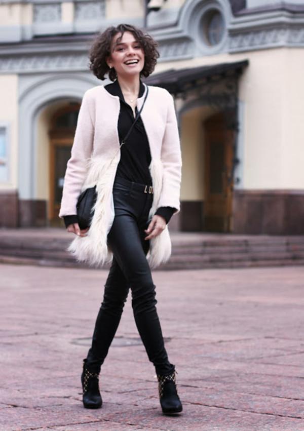 greenteanosugar coat bag pants blouse shoes belt jewels