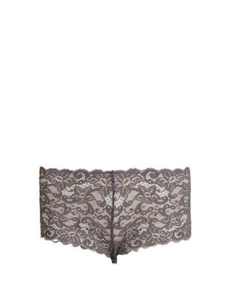 short lace dark grey underwear