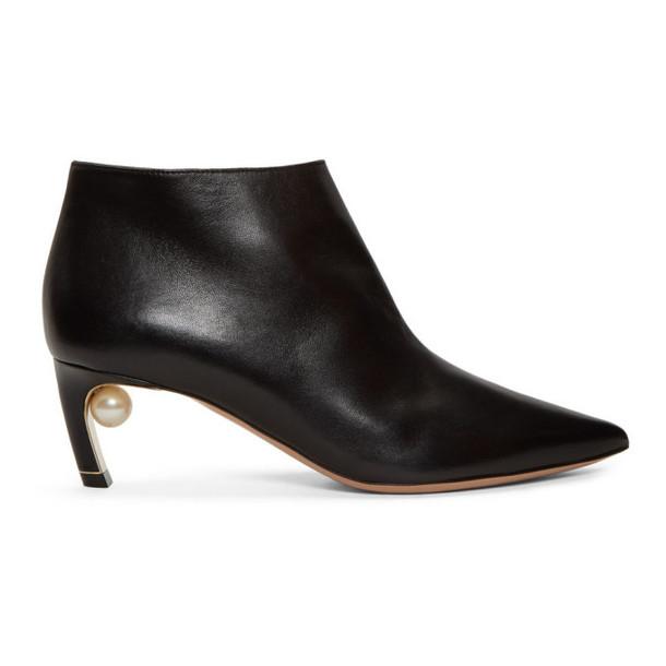 Nicholas Kirkwood Black Mira Pearl Boots