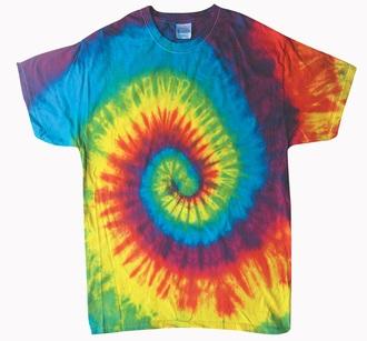 t-shirt rainbow tie dye shirt tie dye colorful