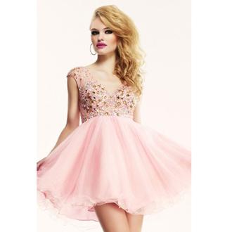 a line cocktail short mini dresses pearl pink cocktail dresses