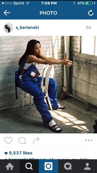 jumpsuit jeans denim overalls tommy hilfiger