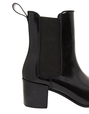 ASOS   ASOS APPRISE Leather Chelsea Point Ankle Boots at ASOS