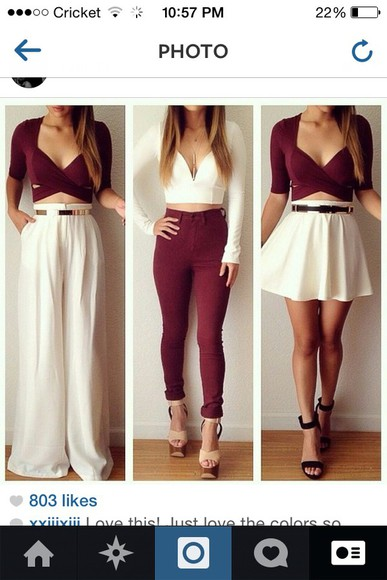 top jeans burgundy high waisted jeans