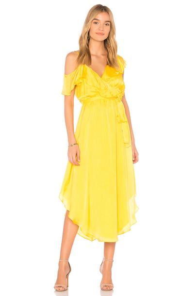 Saylor dress yellow