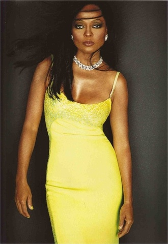 jewels dress earrings necklace yellow dress spaghetti straps