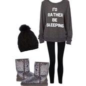 sweater,jacket,i'd rather be sleeping,gray sweatshirt,graphic sweatshirt