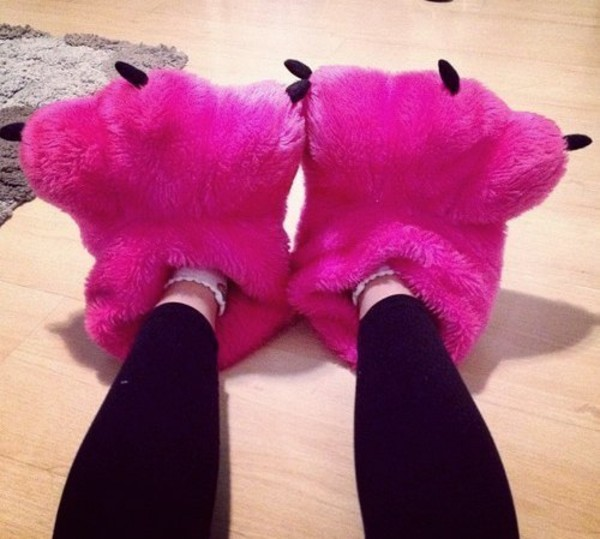 shoes pink slippers monster