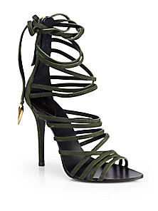 Giuseppe Zanotti - Leather Strappy Tie-Up Sandals - Saks Fifth Avenue Mobile