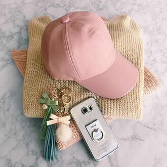 hat leather faux cap vegas vegan baseball hat accessories sweater pastel keychain iphone pink nude beige gojane outfit