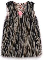 top,black faux fur,faux fur vest,black waistcoat,chicken feather,faux fur waistcoat,lined vest,www.ustrendy.com